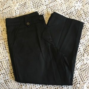 THE LIMITED BLACK CROPPED PANTS SIZE 4 NWOT